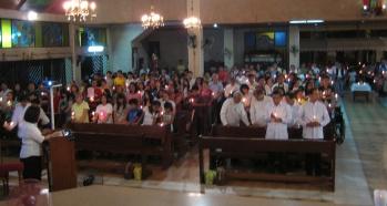 Easter vigil Mass near Manilla