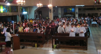 Easter vigil Mass near Manilla