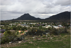 Graff-Reinet viewed from the black township.