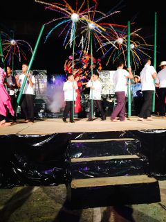 Fireworks and dancing were a part of the ordination celebrations
