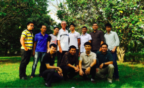Fr. Tom with students