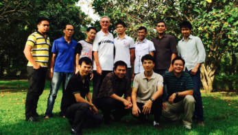 Fr. Tom with his students