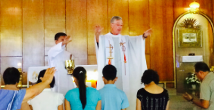 Fr. Tom celebrating Mass in the Philippines
