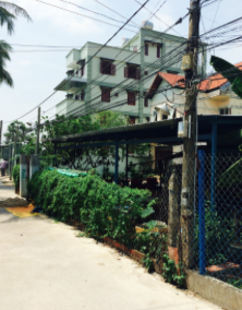 A view from the street of our first house in Vietnam