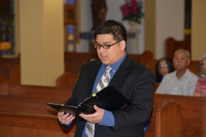 Frater Joseph Vu renews his vows