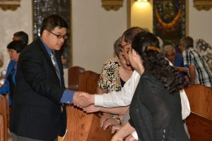 Joseph is congratulated on his vow renewal.