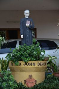 A statue of Fr. Dehon at Eluru