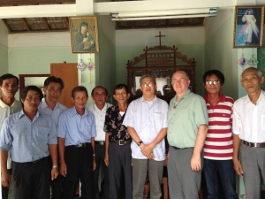 Visiting the family of one of our Vietnamese SCJs