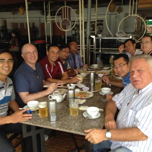 Fr. Steve joins SCJs in Ho Chi Minh for a meal