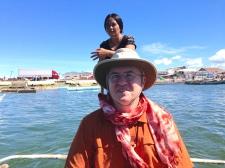 Fr. Steve rides the ferry