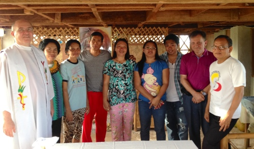 Fr. Steve with parishioners in the Philippines