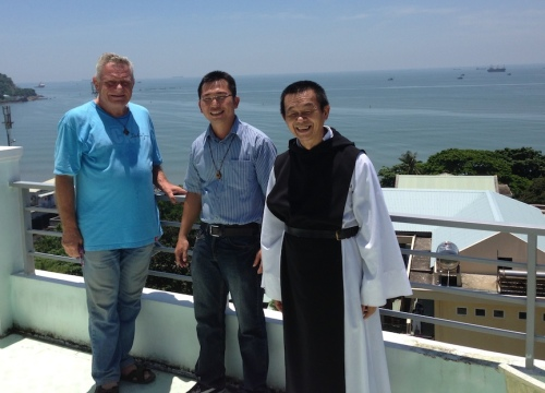 Fr. Rino, Fr. Loc and Abbot Matthew Vu