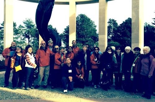 The pilgrimage group at Normandy