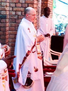 Fr. Steve during the memorial service at St. Martha's Church in Kisangani.