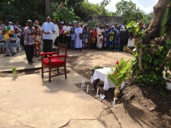 On Saturday a memorial was held at the site where many of the SCJ missionaries were killed in 1964. The house has been demolished;  the SCJs were killed in the basement
