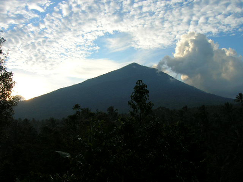 Mt. Tanggamus can be easily seen from Gisting, where our Indonesian novitiate is located.