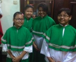 Altar servers in Jakarta