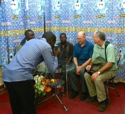 Frs. Steve and Charlie were interviewed in Kisangani.