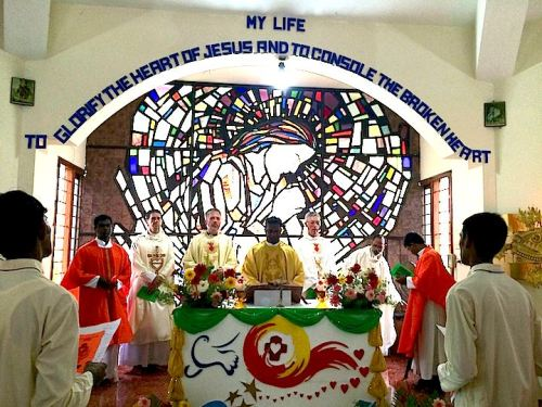 Fr. Tom was among those who took part in this year's profession ceremony in India.