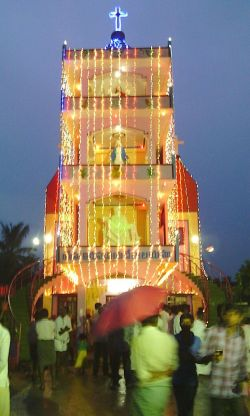 The new bell tower at Vempadu