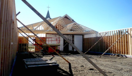The beginnings of a new parish hall in Big Bend, SD