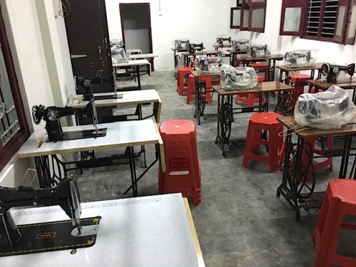 New sewing machines ready for classes in India