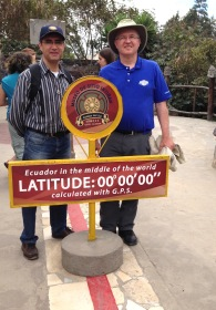 Fr. José Luis and Fr. Steve at the equator