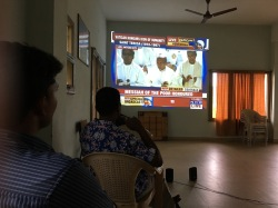 Indian SCJs watch the canonization on TV
