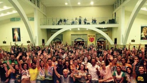 Participants at the Dehonian Youth Mission experience in Brazil